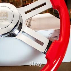 Steering Wheel & Hub Kit 18 Dual Classic Red Wood Smooth Horn (Freightliner)