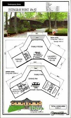 Stingray Point 49 x 92 Customizable Shell Kit Home, delivered ready to build