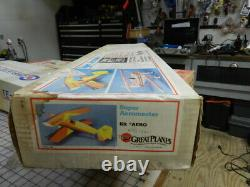 Super Aeromaster Balsa rc airplane kit by Great Planes Rare/ Vintage