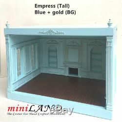 THE NEW TALL EMPRESS+ ROOM BOX KIT BY MINILAND Blue gold 112 SCALE roombox