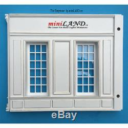 THE NEW TALL EMPRESS+ ROOM BOX KIT BY MINILAND white gold 112 SCALE roombox