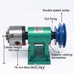 Tailstock&Lathe Spinlde Kit 3-jaw Chuck 80mm Rotary Table Wood Jade Processing