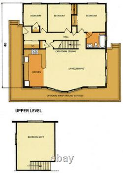 Telluride II 38 x 38 Customizable Shell Kit Home, delivered ready to build