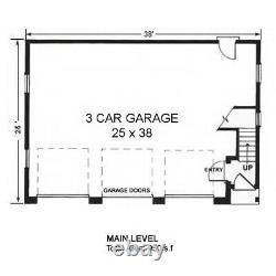 The Acadia 25x38 Garage Customizable Shell Kit Barn-dominium, ready to build