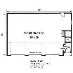 The Alturas 26x39 Garage Customizable Shell Kit Barn-dominium, ready to build