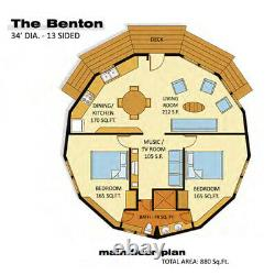 The Benton 30' Round Customizable Shell Kit Home, delivered ready to build