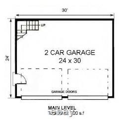 The Cascades 24x30 Garage Customizable Shell Kit Barn-dominium, ready to build