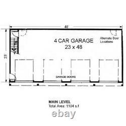 The Cortez 24x48 Garage Customizable Shell Kit Barn-dominium, ready to build