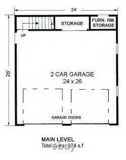 The Crater Lake 24x26 Garage Customizable Shell Kit Barn-dominium