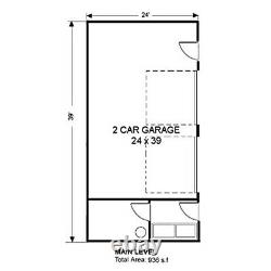 Toluca Barn-dominium 24x39 Garage Customzble Shell Kit, delivered ready to build