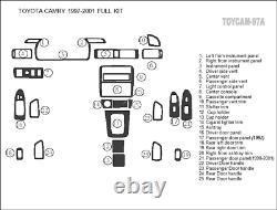 Toyota Camry Fit 1997 98 99 00 01 Style Interior Wood Carbon Alum Dash Trim Kit
