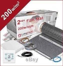 Underfloor Heating Kit For Under Laminate and Wood Floors + Digital Thermostat