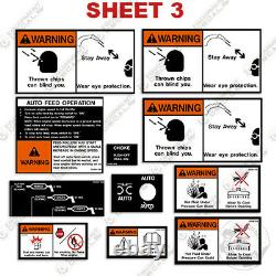 Vermeer Warning Decal Kit Wood Chipper Safety Decal Kit