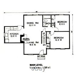Vicksburg Cape Cod 28x46 Customizable Shell Kit Home, delivered ready to build
