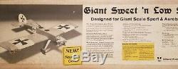 Vintage Midwest Giant Sweet N Low Stik Model Airplane Kit, 86 Wingspan New