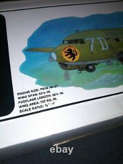 Vintage NIB Douglas C-47 Scale RC Airplane Kit Royal Wingspan 83 1/8 NICE