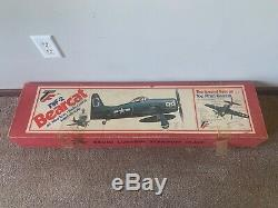 Vintage New TopFlite Top Flite F8F-2 F8F Bearcat Balsa Wood RC Airplane Kit
