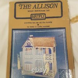 Vintage The Allison Wooden Dollhouse Kit By Artply No. 77 Wood Build