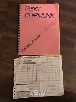 Vintage model Super Chipmunk RC airplane Kit NIB 81 Wingspan New