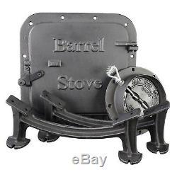 Vogelzang U. S Stove BSK1000 Stove Barrel Stove Kit Wood Iron Burning Drum USA