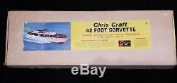 Vtg Sterling R/C 42 ft Chris Craft Corvette Wood Model Rare Unbuilt Kit B15M