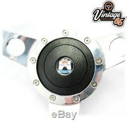 Vw Transporter T4 Camper 9601 15 Polished Wood Rim Steering Wheel Boss Upgrade
