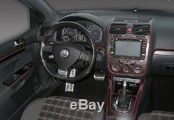 Vw Volkswagen Gti Rabbit 06-09 Digital A/c New Style Wood Carbon Dash Trim Kit
