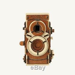 WOODSUM Wood Pinhole Film Camera-S /Self Assembly Kit 35mm Film, DIY, Vintage