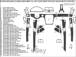 Wood Dash Trim Kit 35 Pcs Fits Mercedes Benz S Class 2000-2004 Long Body