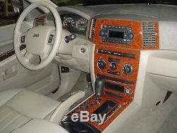 Wood Dash Trim Kit Fits Jeep Grand Cherokee 2005 2006 2007 Model