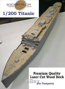 Wood Deck for 1/200 Titanic (fitsTrumpeter kit) by Scaledecks. Com LCD-25