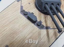 Wood Deck for 1/200 Yamato fits classic Nichimo kit by Scaledecks. Com