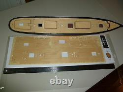 Wood Deck for 1/96 Cutty Sark (fits Revell kit) by Scaledecks. Com LCD-10