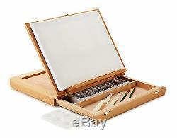 Wood Table Easel Acrylic Paint Set Art Supplies Artist Painting Portable Kit New
