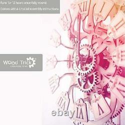 Wood Trick Pendulum Wall Clock Kit 3D DIY Wall Clock Mechanical Model