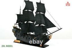 ZHL The black Pearl Golden version 2021 wood model ship kit 31 inch